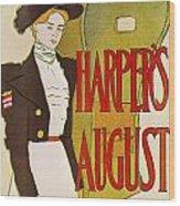 Harpers August 1897 Wood Print