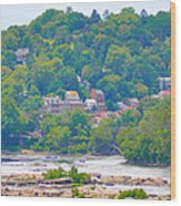 Harpers Ferry View Wood Print
