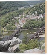 Harpers Ferry Viewed From Maryland Heights Wood Print