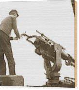harpoon gun Moss Landing whaling Monterey Bay circa 1920 Wood Print