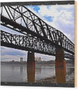 Harrahan Railroad Bridges Wood Print