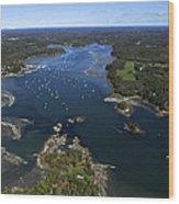 Harraseeket River And South Freeport Wood Print