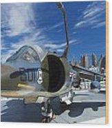 Harrier At Interpid Museum Wood Print