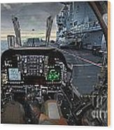 Harrier Cockpit Wood Print