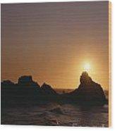 Harris Beach State Park Oregon Fisherman Wood Print