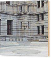 Harrisburg Capital Courtyard Wood Print