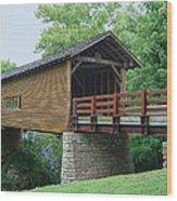 Harrisburg Covered Bridge Wood Print