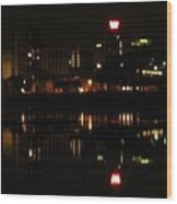 Harrisburg Night Lights Wood Print