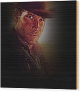 Harrison Ford As Indiana Jones Wood Print