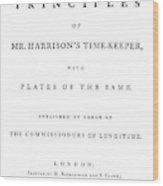 Harrison Timekeeper Wood Print
