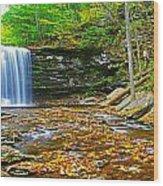 Harrison Wright Falls Panorama Wood Print