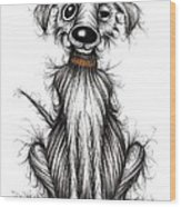 Harry The Dog Wood Print