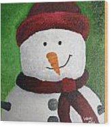 Harry The Snowman Wood Print
