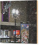 Hart In The Snow - Grants Pass Wood Print