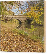 Hartford Bridge In Autumn Wood Print