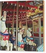 Hartford Carousel Wood Print