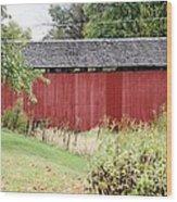 Hartman Covered Bridge Ohio Wood Print