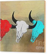 Hart's Camp Buffalo Skulls Wood Print by GCannon