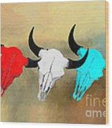 Hart's Camp Buffalo Skulls Wood Print