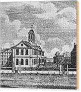Harvard College, Ca. 1767. From Left Wood Print