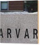 Harvard Wood Print