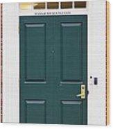 Harvard Masssachusetts Hall Door Wood Print