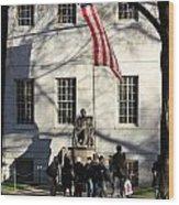 Harvard Statue Wood Print