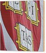 Harvard Veritas Banner Wood Print