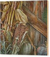 Harvest Corner Wood Print