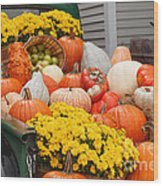Harvest Display At The Vermont Country Store Wood Print