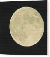 Harvest Full Moon Wood Print by Andrea Dale