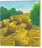 Harvest Gold Wood Print