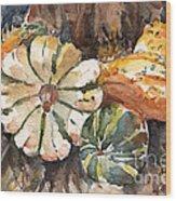 Harvest Gourds Wood Print