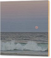 Harvest Moon Seaside Park New Jersey 2013 Wood Print