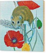 Harvest Mouse Wood Print
