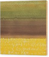 Harvest Original Painting Wood Print