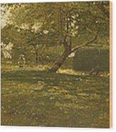 Harvest Scene Wood Print