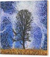 Harvest Storm Wood Print
