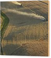 Harvest Time Wood Print by Latah Trail Foundation
