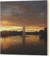 Harveston Lake Sunset Wood Print