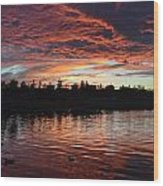 Harveston Sunset Wood Print