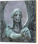 Haserot Weeping Angel Wood Print