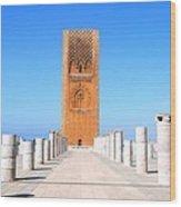 Hassan Tower Rabat Wood Print