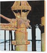 Hastings Pier Supports Wood Print