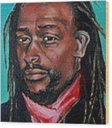 Hat Man - Portrait Wood Print