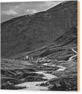 Hatcher's Pass In Black And White Wood Print
