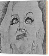 Hatchet Face Wood Print