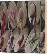 Hats In Colonial Williamsburg Wood Print