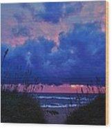 Hatteras Island Sunrise 1 11/01 Wood Print
