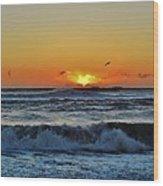 Hatteras Island Sunrise 1 11/03 Wood Print